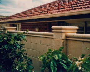Natural Tamala 'Diamond Cut' Limestone Cladding Perth