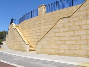 Wall cladding natural limestone.